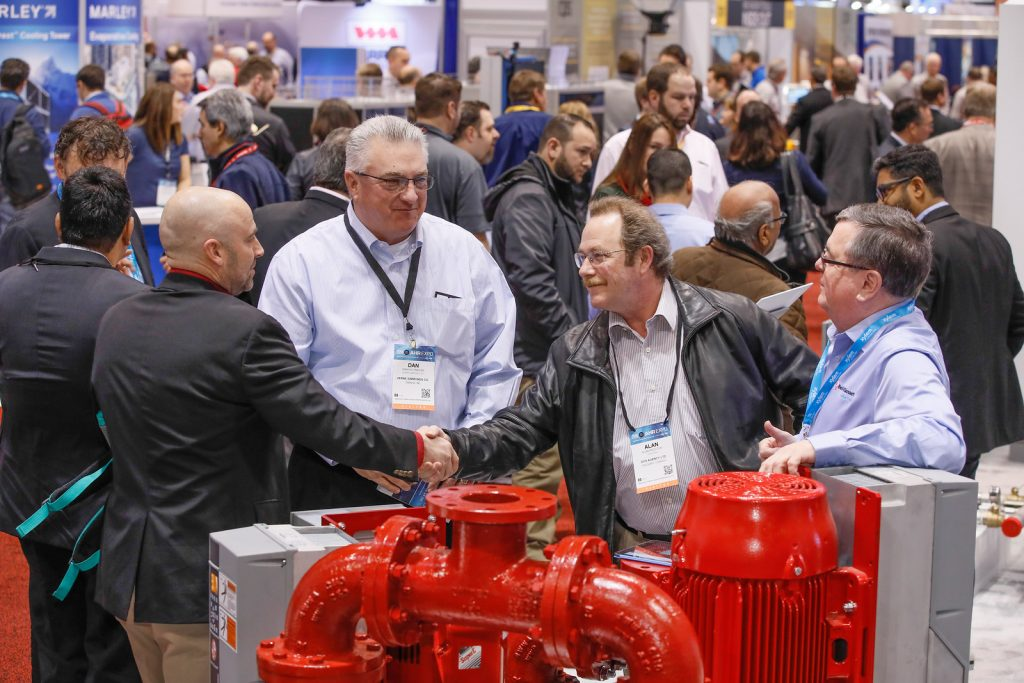 Always busy, the AHR Expo is a great place to see the latest products and chat with manufacturers.