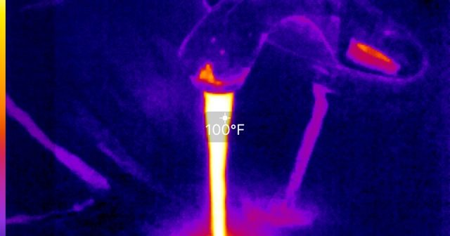 Infrared heating diagnosis