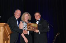 Allen Taylor, left, was elected the 71st chairman of CIPH. Joe Senese, with wife Susan, passes the gavel.