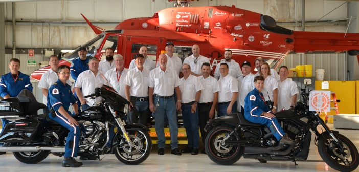 Seventeen riders toured Alberta and B.C. to raise money for the Calgary-based Shock Trauma Air Rescue Society.