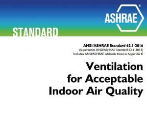 ASHRAE Standard 62 now covers ventilation in refrigerated spaces.