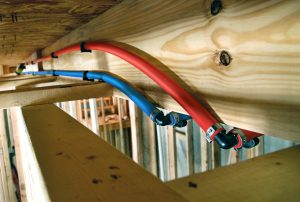 Dow Hypertherm resin is used to manufacture PE-RT piping for hot and cold water lines. (PPI photo)