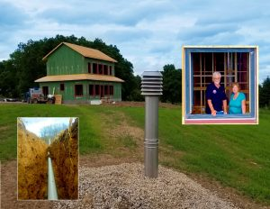 Chris and Judy Lee's Goderich home features an earth tube that preheats incoming air.