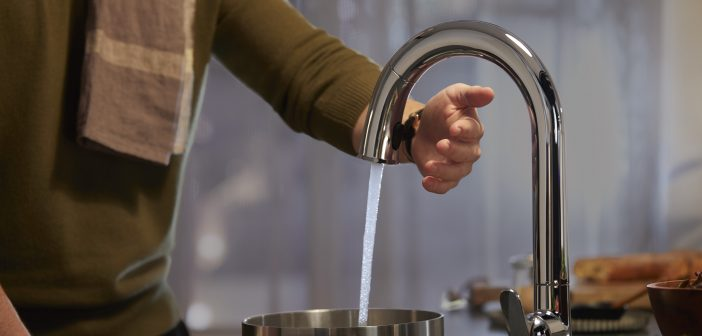 Hands-free residential faucets